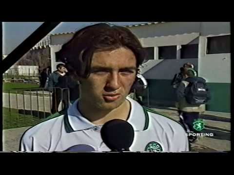 Novos internacionais sub-15 do Sporting em 28/01/1999