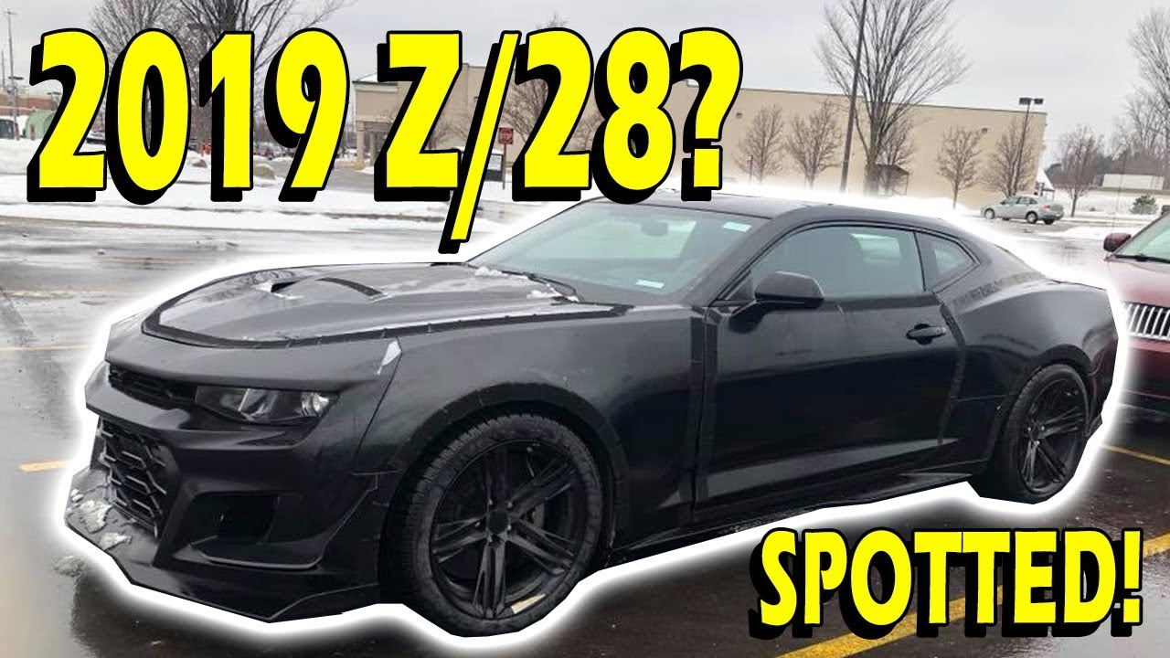 Camaro Iroc Z >> Spotted! 2019/2020 6th Gen Camaro Z/28! - YouTube