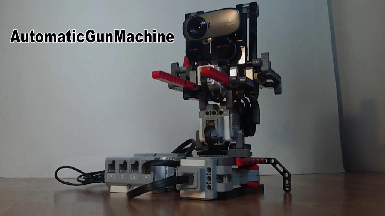 Camera Lego Mindstorm : Machine gun homing lego mindstorms lejos java web camera youtube
