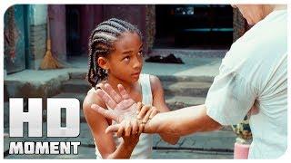 Первая тренировка Дре - Каратэ-пацан (2010) - Момент из фильма