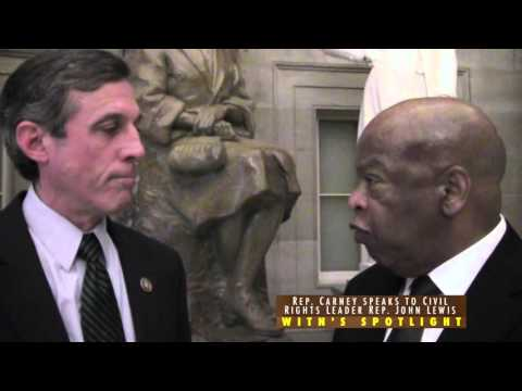 Congressional Spotlight - Rep. Carney speaks to Civil Rights Leader Rep. John Lewis