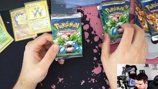 Pokemon 1st Edition Base Set Unboxing #5 - ES IST CONFIRMED!! - 5 Bisaflor Packs!