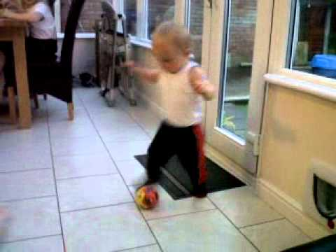 My little footballer - 27.09.2012 (Day 2 of Walking all by myself)