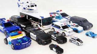 Transformers Carbot Police Car Vehicle Combine Robot Car Toys 트랜스포머 카봇 경찰차 자동차 장난감 로봇 변신 동영상