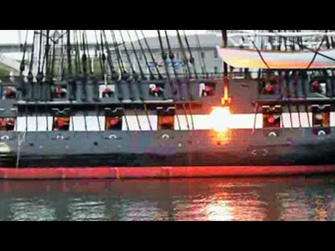 USS Constitution Firing Cannon - September 20, 2014