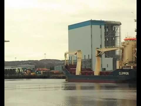 Cargo Ship Cec Faith Arrives on the River Tyne 22nd February 2013