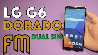LG G6 Dorado Unboxing en Español. Dual SIM, H870DS.