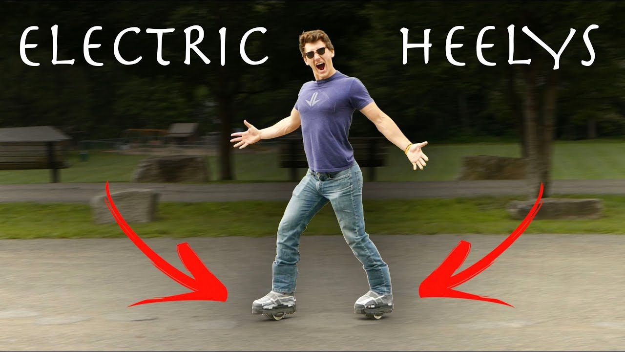 Homemade MOTORIZED HEELYS! - Extreme Testing!!! (Hover Shoes)