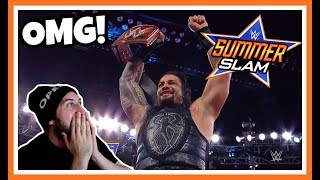 ROMAN REIGNS WINS THE UNIVERSAL CHAMPIONSHIP reaction | WWE Summerslam 2018
