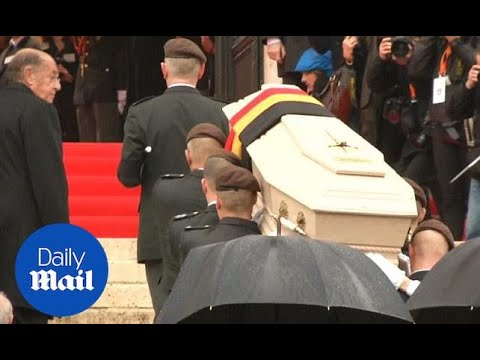 Royals arrive for funeral of former Belgian Queen Fabiola - Daily Mail