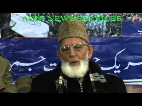 SRINAGAR .. The Hurriyat Conference chairman Syed Ali Geelani CALLS FOR STRIKE ON APRIL 21