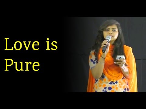 Love is Pure- English Love Poem at Nojoto Open Mic LPU | Spoken Word Love Poem in  English