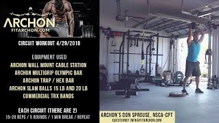 Circuit Training 4-19-18