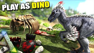 WE MAKE A RAPTOR DEN !! | PLAY AS DINO | ARK SURVIVAL EVOLVED