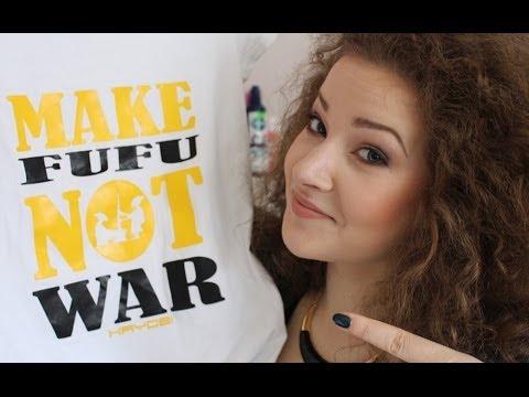 GIVEAWAY - MAKE FUFU NOT WAR t-shirt | CLOSED!