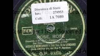 Michele Montanari E Trio Lescano - Rose, Rose (con Testo)