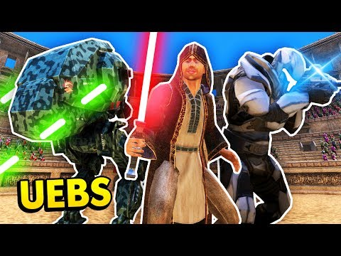 UEBS UPDATE! NEW SCI FI UNITS AND LASER WEAPONS! (Ultimate Epic Battle Simulator / UEBS Gameplay)