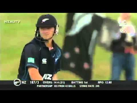 Corey Anderson: 100 from 36 Balls - Fastest ODI Hundred in Cricket History