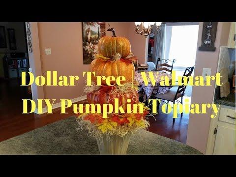 Dollar Tree Walmart Diy Pumpkin Topiary Farmhouse Pumpkin