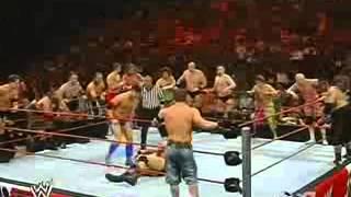 Randy Orton  John Cena vs RAW Roster 031708 www yaaya mobi