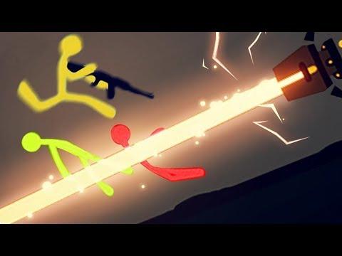 CUIDADO COM OS LASERS! | Stick Fight: The Game