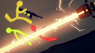 CUIDADO COM OS LASERS! | Stick Fight: The Game #3