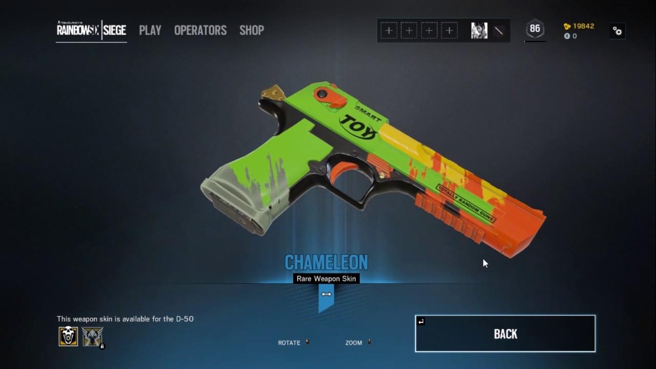 Rainbow six siege - Alpha pack - got a chameleon skin for dessert eagle gun