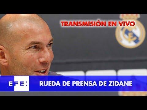 Rueda de prensa entrenador del Real Madrid, Zidane