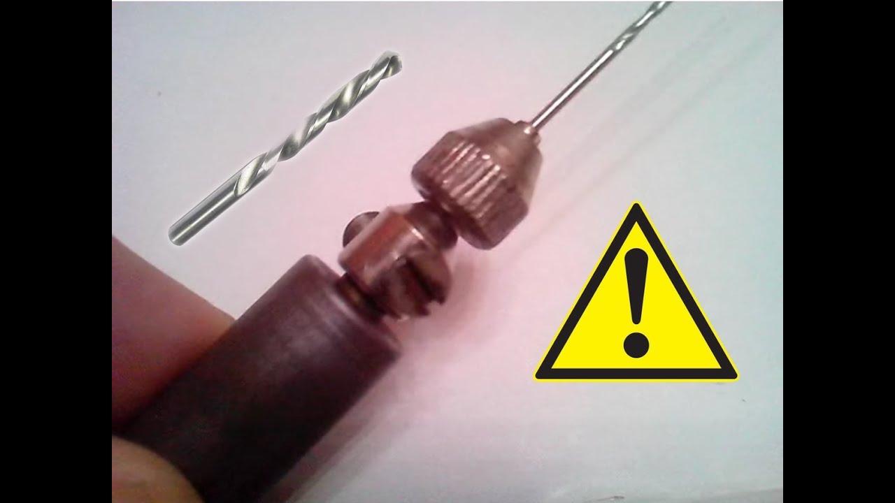 Аккумуляторная мини дрель для сверления печатных плат. - YouTube