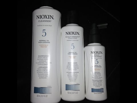 Nioxin Scalp Treatment System for Thinning Hair or Hair loss - YouTube