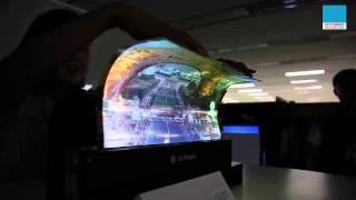 Pantalla  LG  flexible con tecnologia OLED