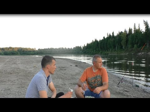 рыбалка на реке Чулым в ночь ловля на фидер