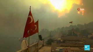 Incendies en Turquie : des régions balnéaires en flammes • FRANCE 24