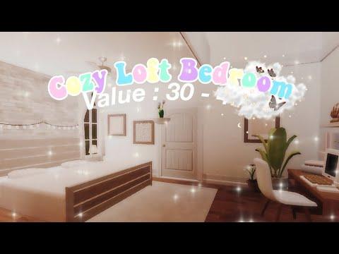 Cozy Loft Bedroom | Tour + Speedbuild | Roblox Bloxburg ...