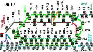 首都圏の顔・山手線の朝ラッシュ時における運行の模様です。並行路線を...