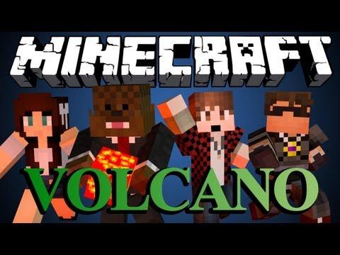 FAIL Minecraft VOLCANO BRIDGES Minigame w/ SkyDoesMinecraft, BajanCanadian and AshleyMariee