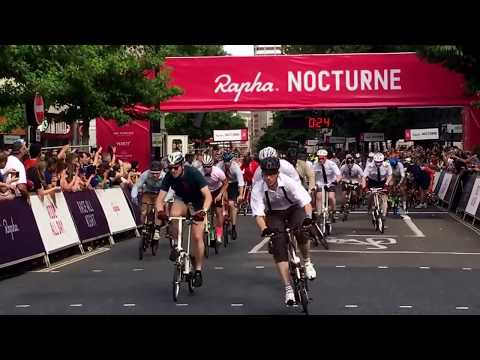 Le Mans style start for the Rapha London Nocturne 2017 Folding Bike Race