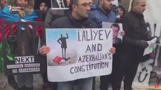 Gəncədə və Berlində Azərbaycan hökumətinə qarşı etiraz aksiyaları keçirildi - (18.01.2017)
