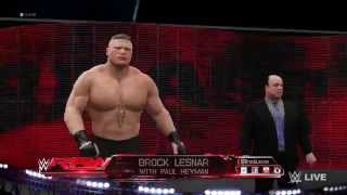 WWE 2K16 - Brock Lesnar Entrance