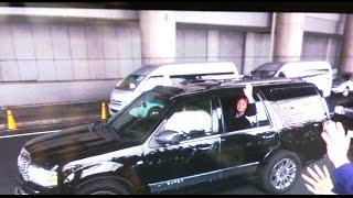 2015ポール京セラドーム公演、会場入りする様子を入待ち撮影 降車後こち...