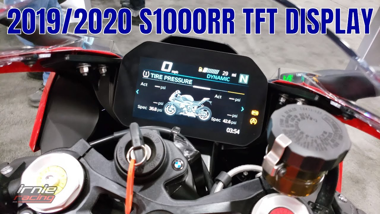 bmw s1000rr 2019  2020 tft display first look