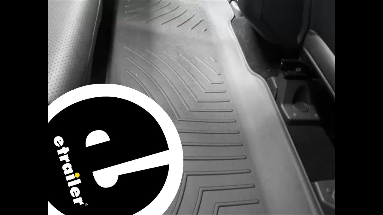 Review of a weathertech rear floor liner on a 2011 ford f 250 etrailer com youtube