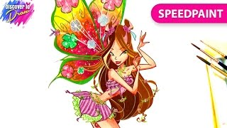 How to draw Flora Believix from Winx Club | Speedpainting