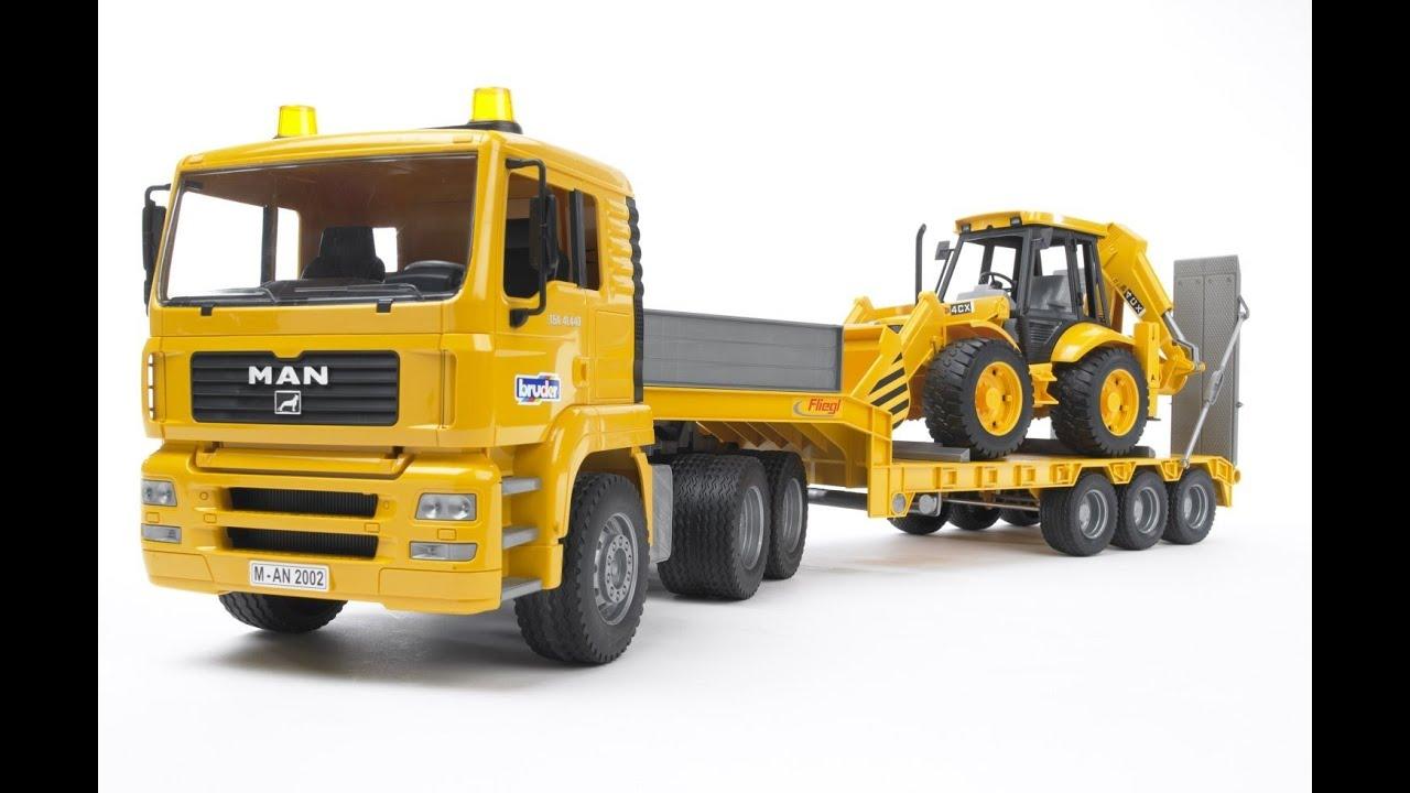 Bruder Toys Man TGA Low Loader Truck With JCB Backhoe ...
