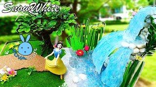 Hot Glue Waterfall Tutorial SnowWhite Garden | Awesome Hot Glue DIY Life Hacks for Crafting Art #024
