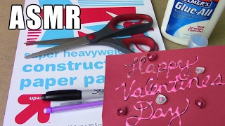 No Talking ASMR Construction Paper Crafts - Cutting, Gluing, Folding, Measuring, Writing