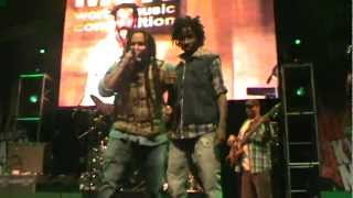 """Ky-mani Marley ft. Kj Marley in Chile """"Armed and Dangerous""""  2012"""
