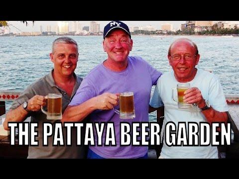 Pattaya Beer Garden Over the bay of Pattaya Thailand.