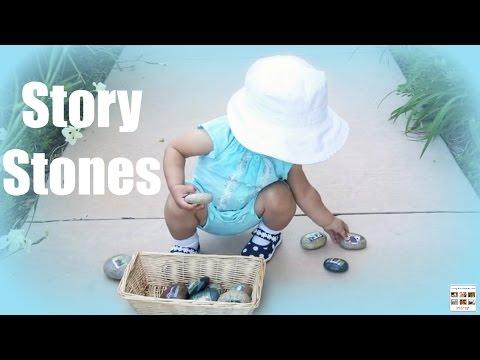 Story Stones - Farm Animal Families Treasure Basket - Living Montessori Now