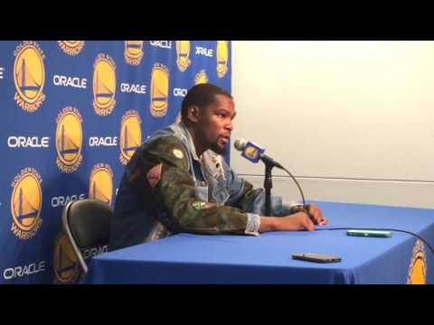 KEVIN DURANT, POSTGAME Golden State Warriors (66-14) vs New Orleans Pelicans